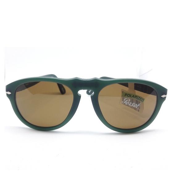 9c103cb7e4904 Persol OSSIDIANA Green Polarized Brown Sunglasses